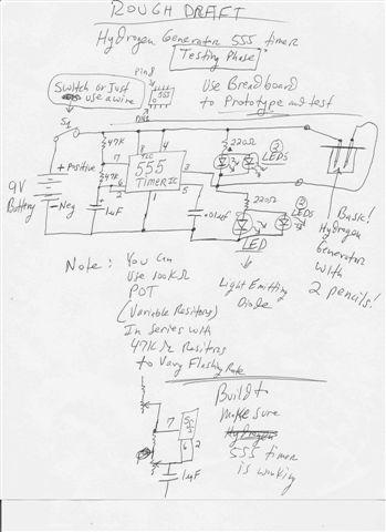 Very Basic 555 Timer Hydrogen Generator Testing