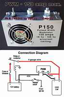 PWM 150amps with connection diagram